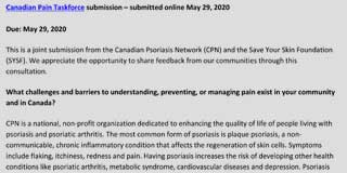 Canadian Pain Taskforce submission